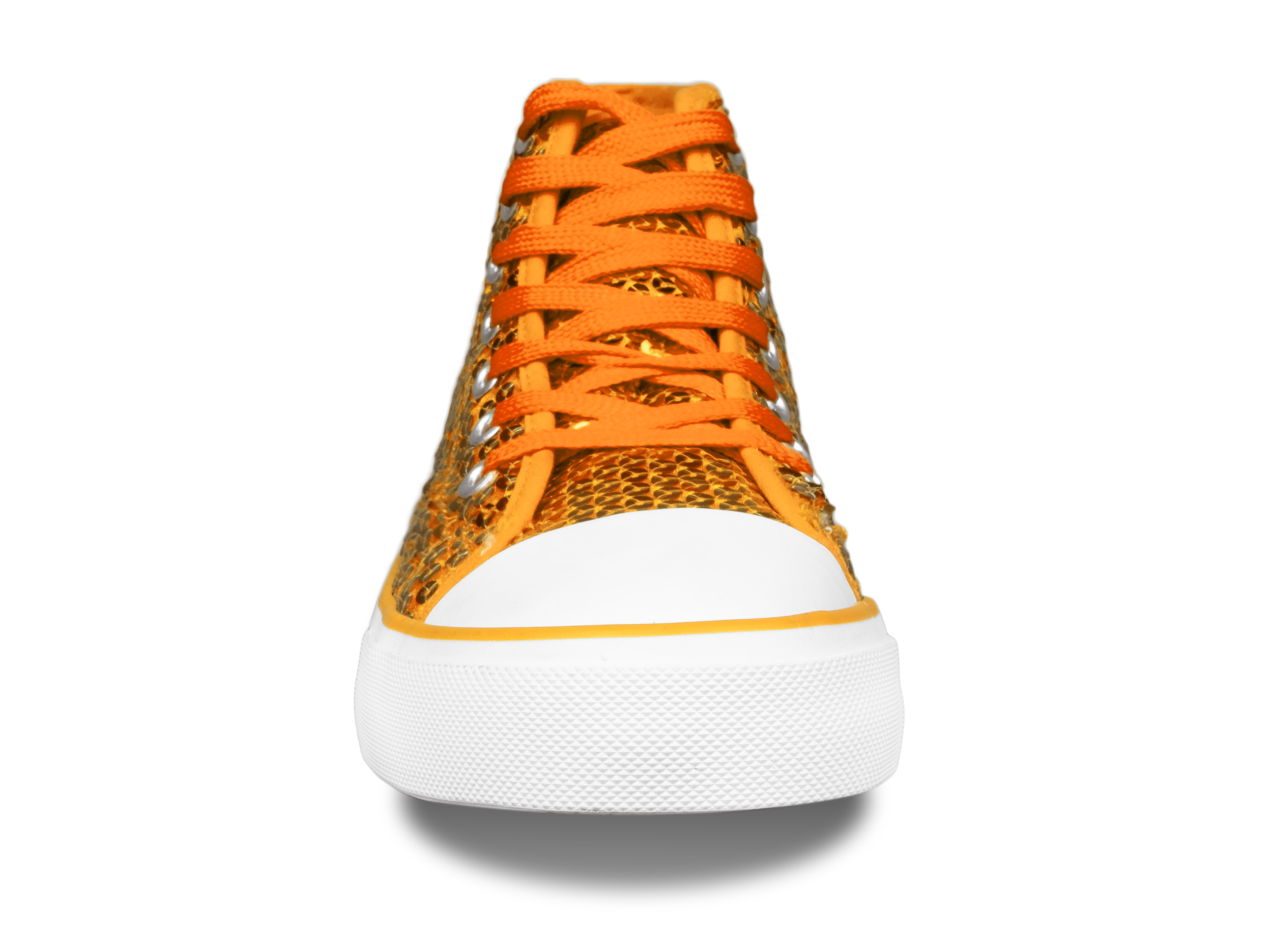 Paillettenschuh orange Gr. 36