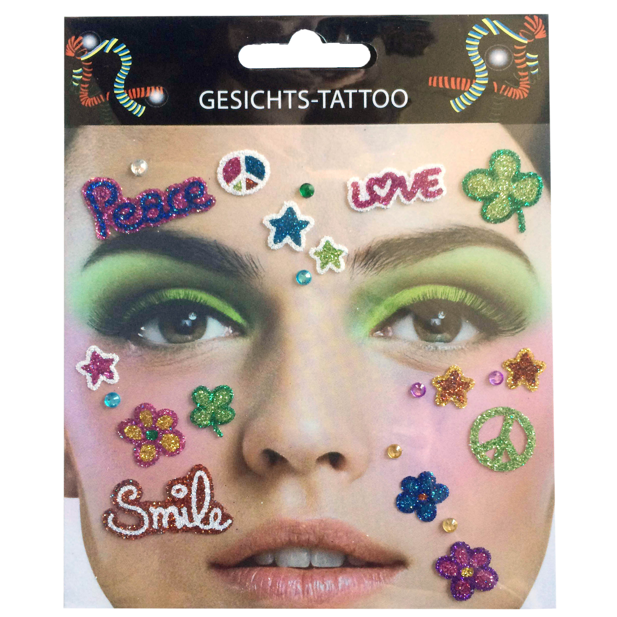 Gesichts-Tattoo Flower Power