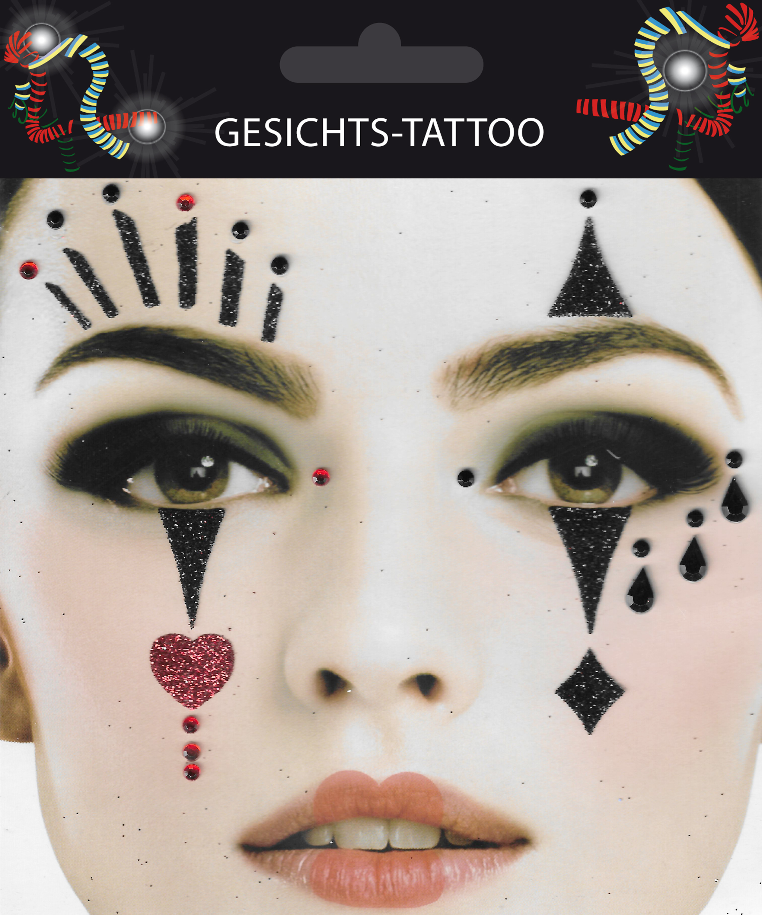 Gesichts-Tattoo Pantomime